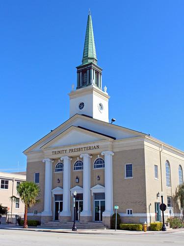 church architecture cityscape florida steeple lakeland presbyterian