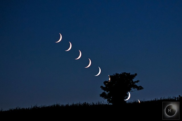 13% Waxing Crescent Moon Setting 05/07/19