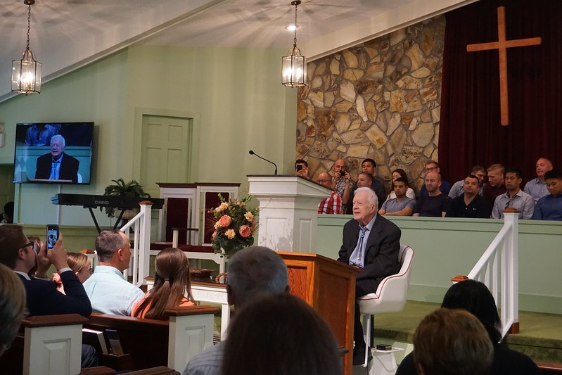 Sunday School with Former President Jimmy Carter, Maranatha Baptist Church, Plains, Ga., June 23, 2019