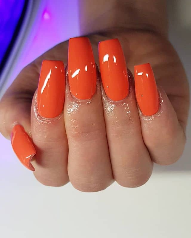 30 Orange Nail Ideas to Make You Stun in Every Season ...