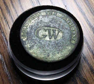 George Washington inaugural button found by James Bailey