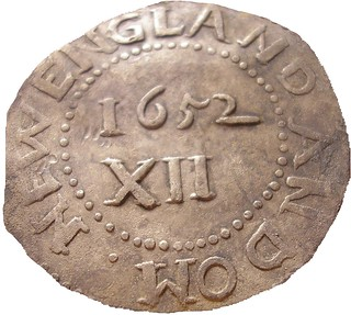 1652 Oak Tree shilling, found by James Bailey