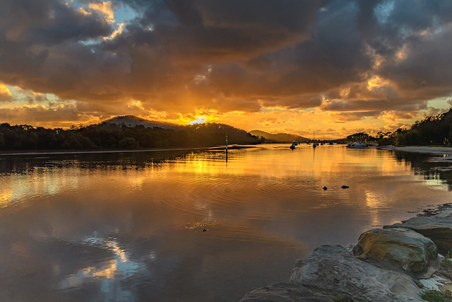 Sunrise and Atmosphere Bay Waterscape