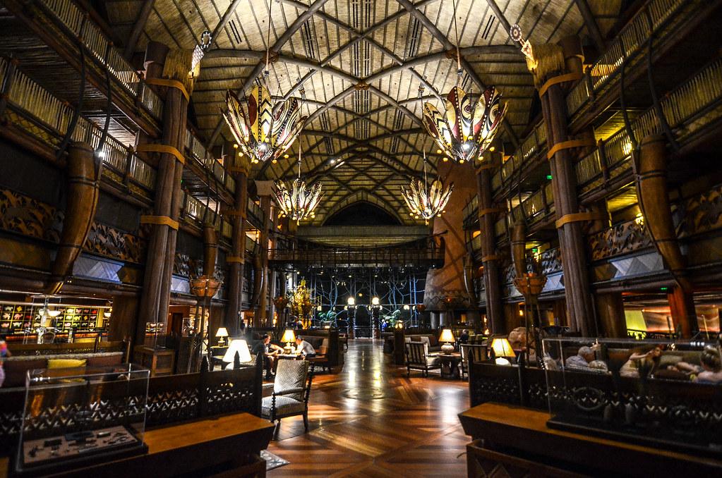 Animal Kingdom Lodge lobby night