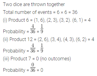 ML Aggarwal Class 10 Solutions for ICSE Maths Chapter 22 Probability