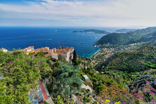 Panorama depuis le jardin exotique de Eze - Côte d'Azur France 1L8A3576