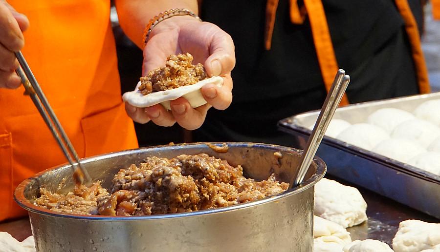 Beef Buns at Taipei Night Market