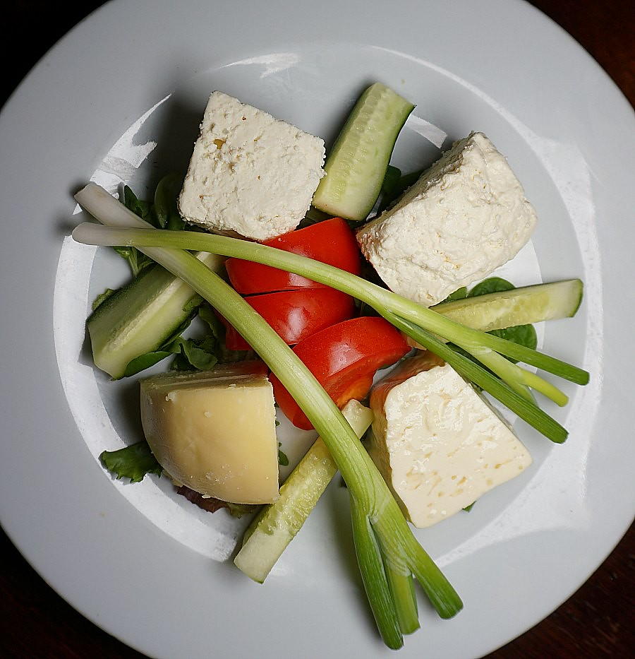 Traditional Romanian Cheese Platter