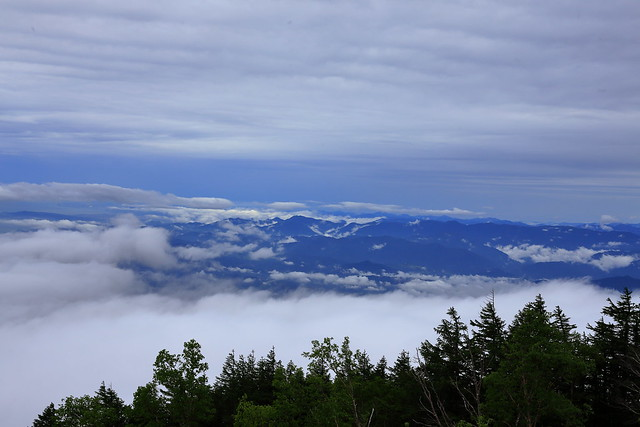 sea of clouds. 5th Station of Mt. Fuji
