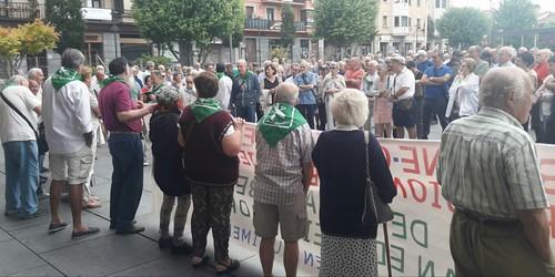 Concentración pensionistas 1-07-19 Irun