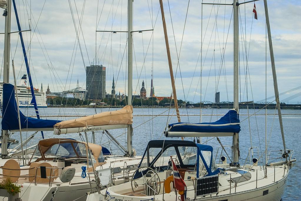 Beautiful yachts, great view.