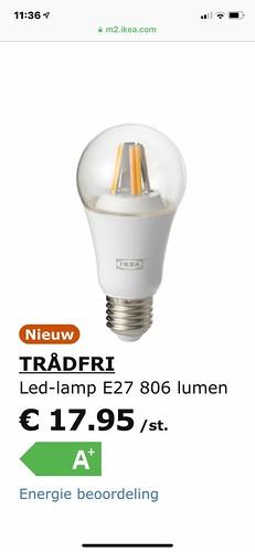 Ikea Home Smart Tr 229 Dfri Led Lamp E27 806 Lumen Draadloos D Flickr
