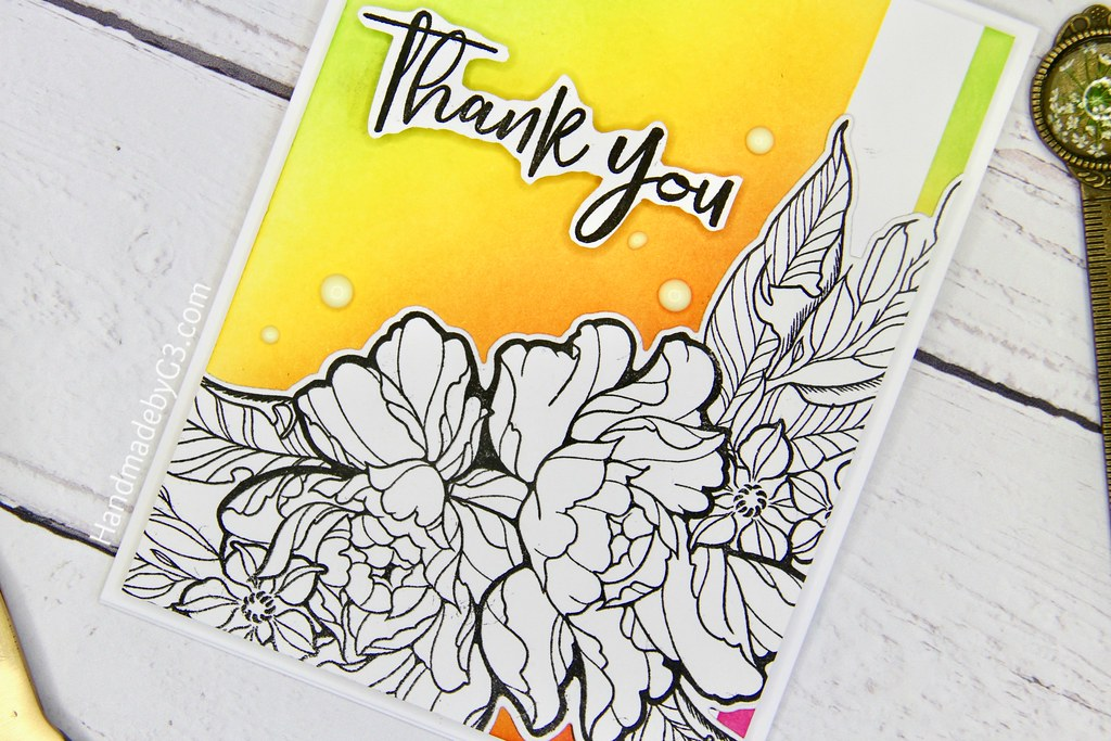 Thank you set 2 card #1 closeup1