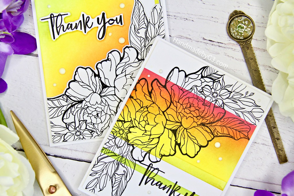 Thank you card set #2 closeup