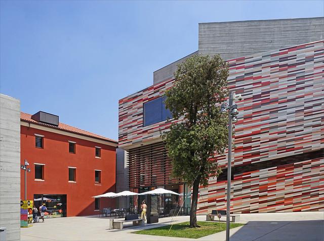 Le musée M9 dans le nouveau quartier (Mestre, Vénétie)