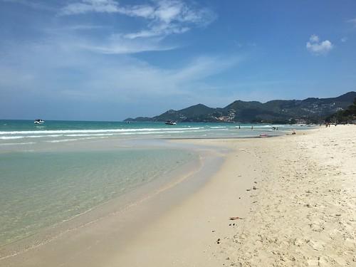 サムイ島 7月6日 太陽照るチャウエンビーチです。