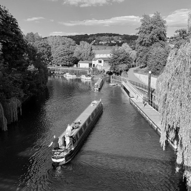 Canal boats in Bath