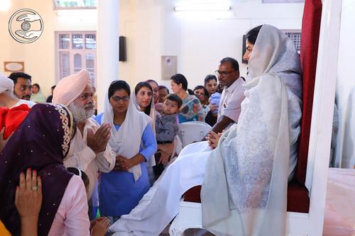 Devotees seeking blessigns