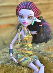 Free Monster High I-Cord Dress Knitting Pattern