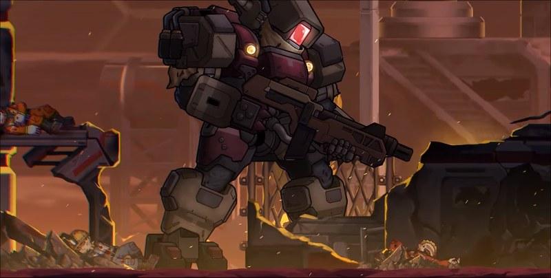Hardcore Mecha - знищення Robo