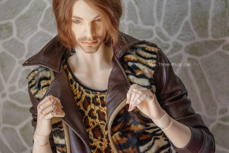 Venitu body leather jacket