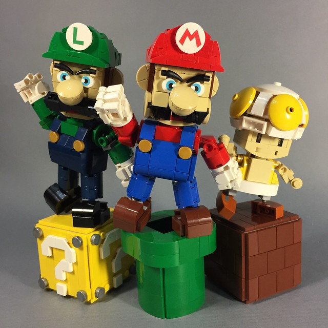 LEGO Mario Luigi Toad