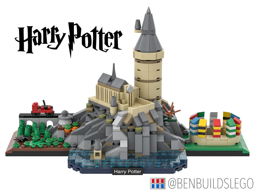 Harry Potter – Hogwarts Skyline (custom built Lego model)