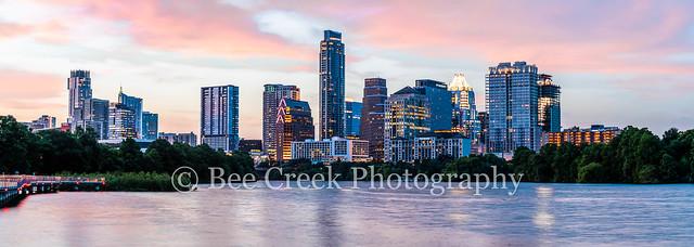 Austin Skyline Twilight Glow Pano