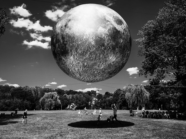 Art installation of the moon