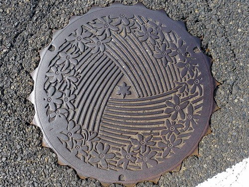 Kinomoto Shiga, manhole cover (滋賀県木之本町のマンホール)
