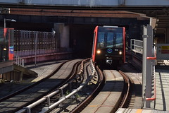 DLR entering Stratford High Street station