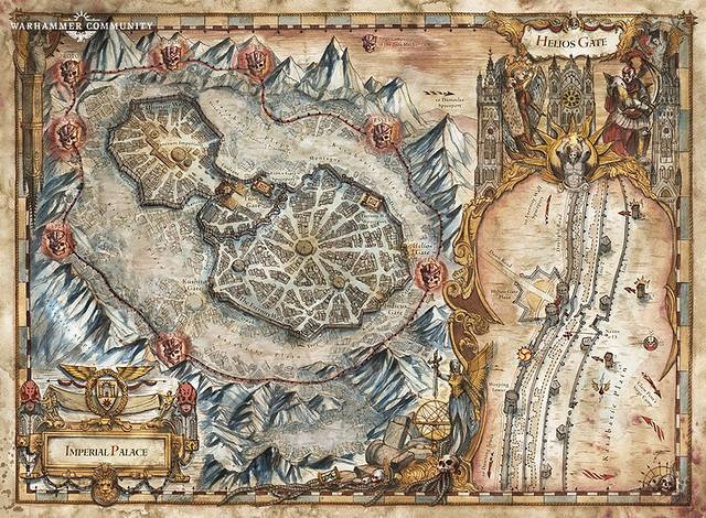 «Заблудшие и проклятые», карта Имперского дворца | The Lost and the Damned
