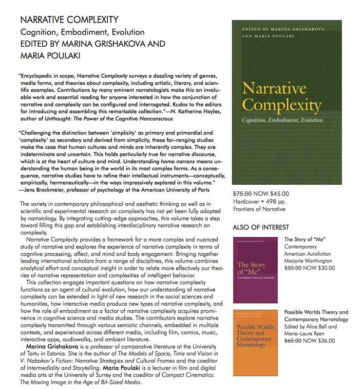 Aparece Narrative Complexity