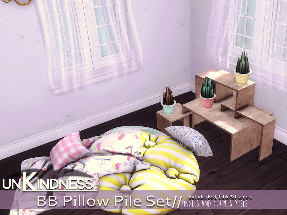 uK – BB Pillow Pile Bedroom Set – Belle Event