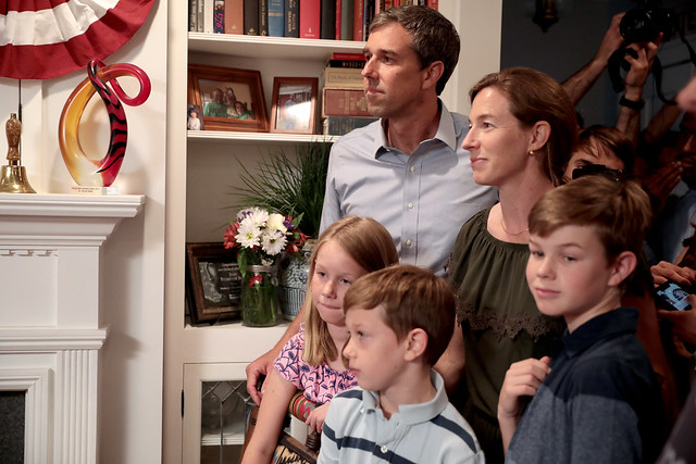 Beto O'Rourke with family