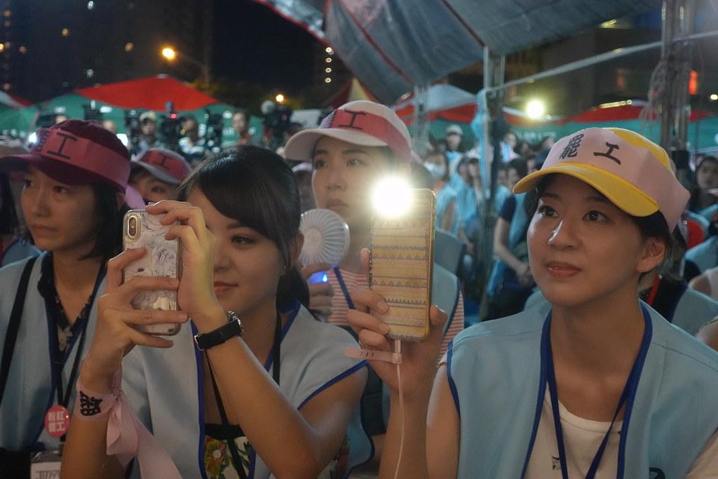 長榮空服員罷工昨晚落幕。(攝影:張智琦)
