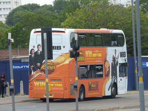 MIB International - Reese's Pieces bus on Longbridge Lane, Longbridge