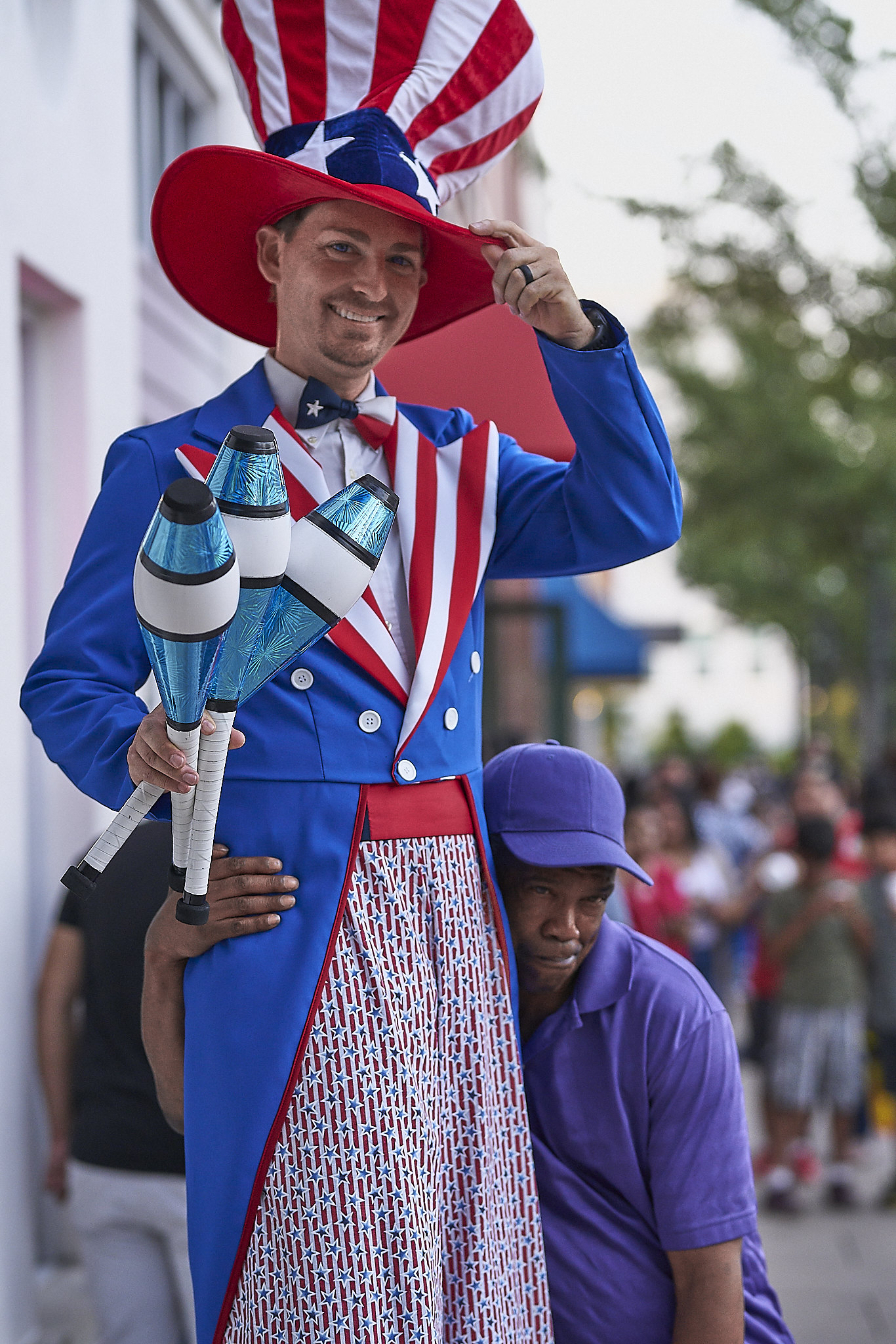 Uncle Sam with Obviously Drunk Guy