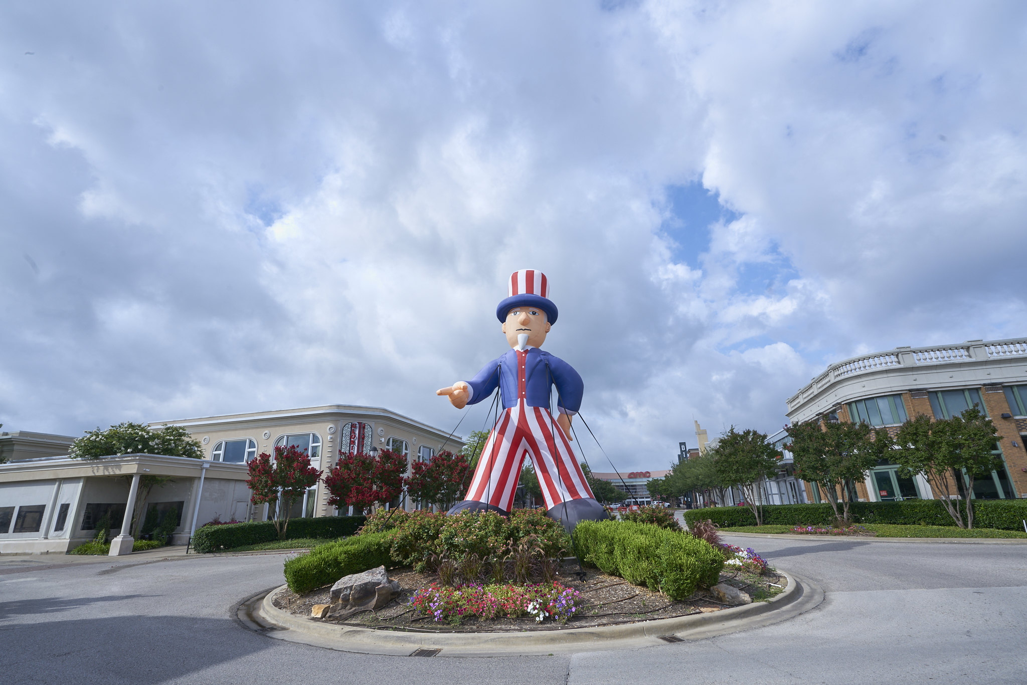 Uncle Sam Strides Atop the Mall