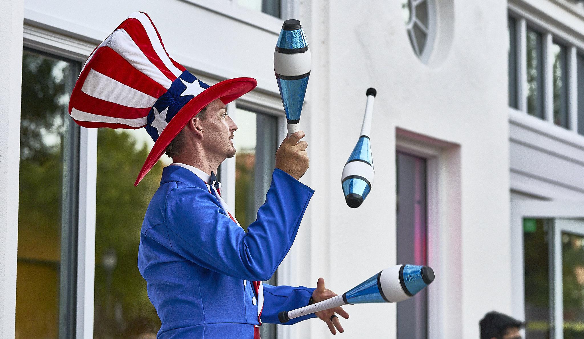 Juggling Uncle Sam