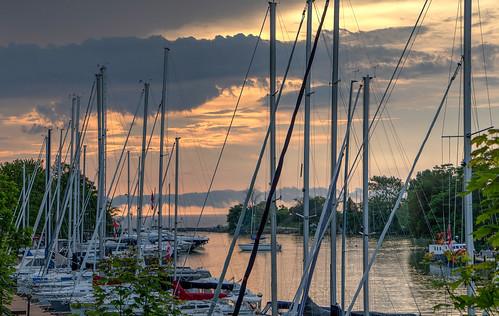 Marina and Lake Huron Sunset