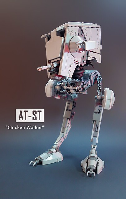 A chicken walker just waiting for Ewoks to crack it like an egg