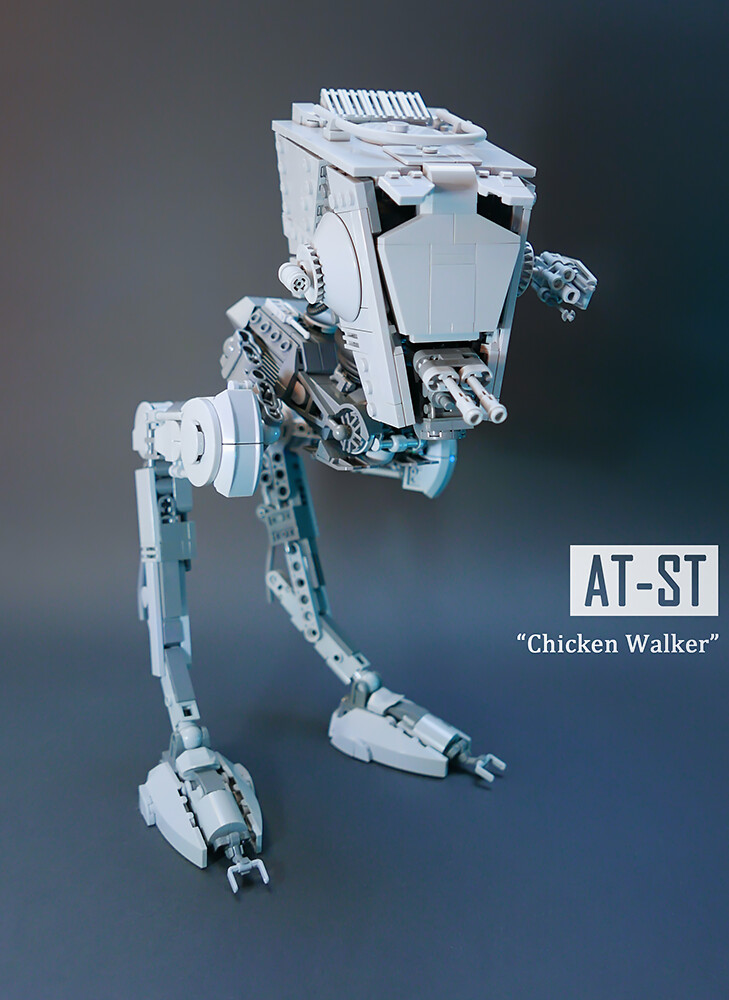 AT-ST v3.0 (custom built Lego model)