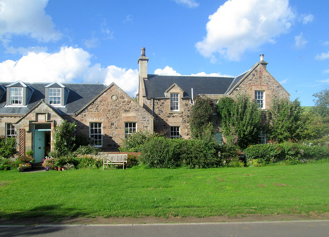 Oldhamstock houses, East Lothian