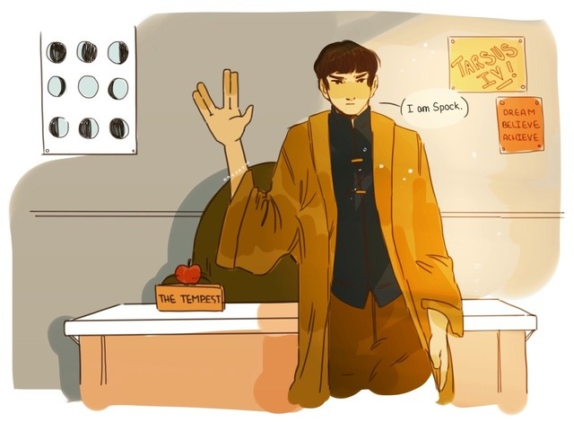 """notants' art """"Say hello to Spock"""""""