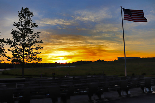 sun sunset colors sky love bleachers american flag oldglory wallofnames flight 93 ua93 911 91101 september 11 2001 heroes neverforget stoystown shanksville somerset county pa pennsylvania georgeneat patriotportraits neatroadtrips scenic scenery landscape