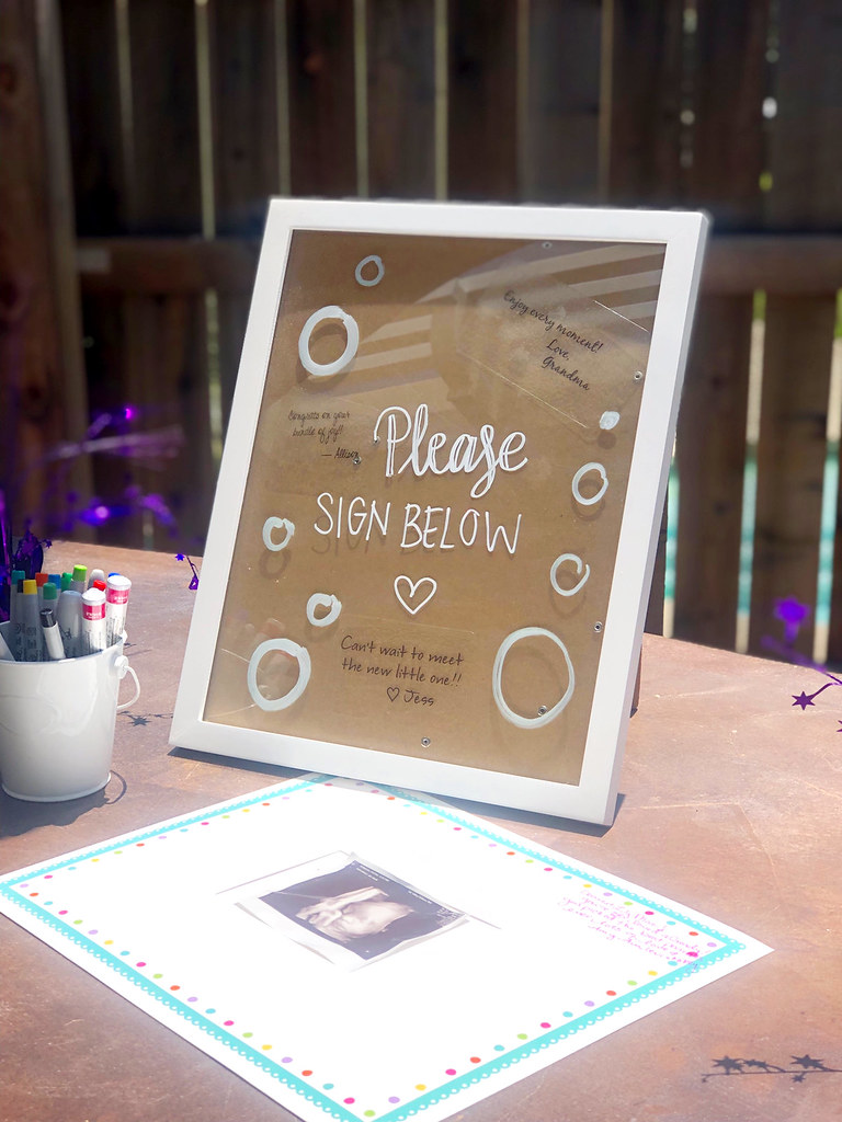 Guestbook frame for Lily