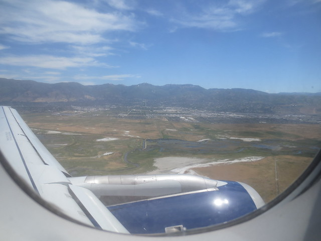 Picture take out plane window just before landing at SLC