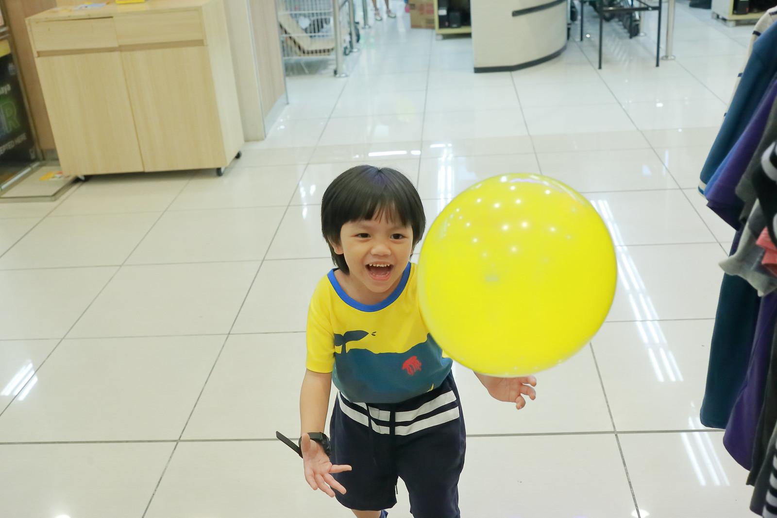 Bryce Playing Balloon