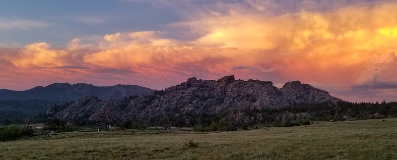 Vedauwoo at sunset after the storm 2019-07-06
